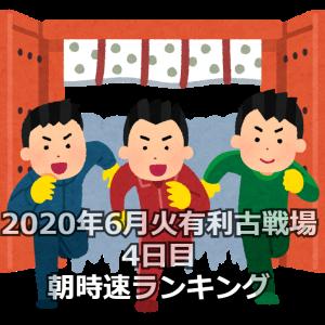 【グラブル】2020年6月火有利古戦場4日目朝時速ランキング