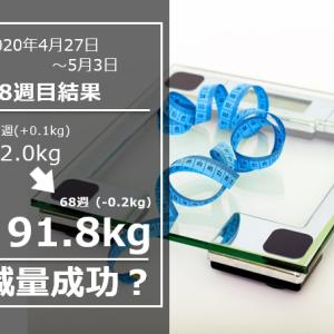 微妙に行ったり来たり【公開ダイエット】day476(5/10)&68w結果91.8(週間-0.2)kg