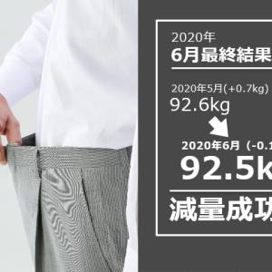 【6カ月連続プラスは阻止した!(笑)】2020年 6月反省 体重92.5kg 月間で-0.1kg