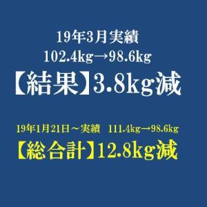 【過去アーカイブ】2019年 3月反省 体重は-3.8kg!