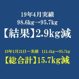 【過去アーカイブ】2019年 4月反省 体重は-2.9kg!