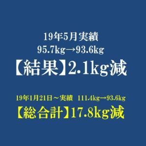 【過去アーカイブ】2019年 5月反省 体重は-2.1kg!