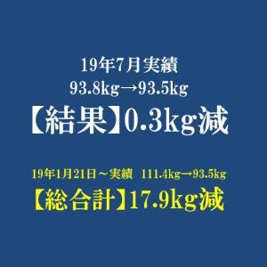 2019年 7月反省 体重93.5kg 月間で-0.3kg。。。