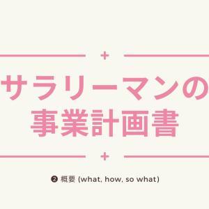 サラリーマンの事業計画書【❷概要】