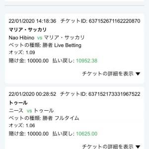 1月22日 +1577円