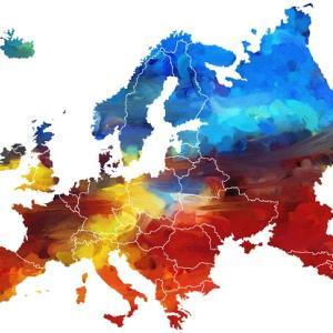 ヨーロッパの最高熱波の温度(地図)- 2018