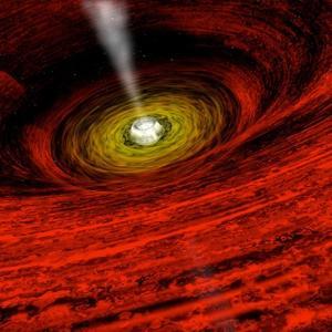 新しい研究は、時間はブラックホールの中で逆行する結論です