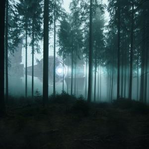 別の男は、森の中で墜落したUFOを見つけます