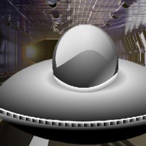 格納庫の中で撮影された巨大なUFOは、技術還元されたもののようだ