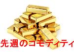 先週の金・プラチナ・銀