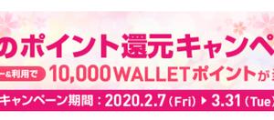 【auWALLETクレジット】春のポイント還元キャンペーン!500名に10,000円が当たる!