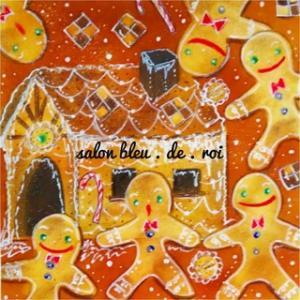 パステルアート『Gingerbreadman with the sugary house』