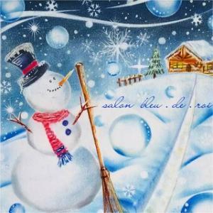 パステルアート『Dreaming Snowman』