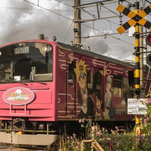富士急行線沿線にて 富士急行6000系6702編成 NARUTO x BORUTO ラッピング電車