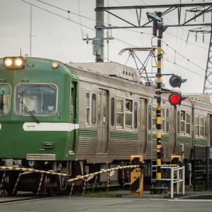ジャトコ前駅南踏切付近にて 岳南電車8000系