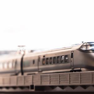 発掘写真 & Nゲージ(鉄道模型)400系初代つばさ号模型 艶出し、傷消し + 実車写真
