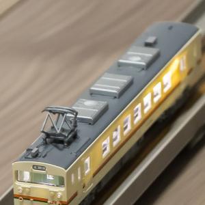 Nゲージ・鉄コレ(鉄道模型)JR123系5042番 アップグレード③ LED室内灯試着