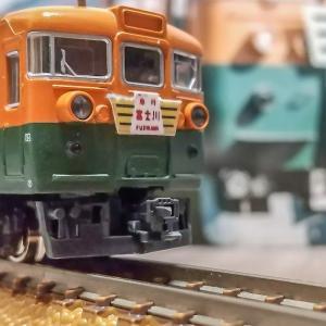 Nゲージ(鉄道模型)165系低屋根仕様 急行富士川ヘッドマーク自作