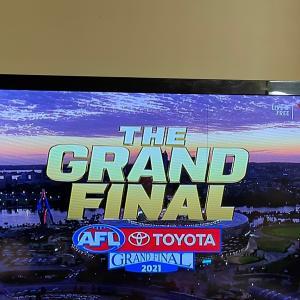 AFL Grand final day/ 今日は主婦休みの日