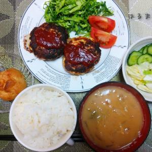豆腐ハンバーグの夜ご飯