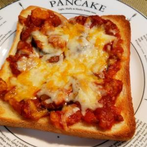 ミートソースととろけるチーズのトースト
