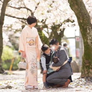 【思い出】桜満開のお宮参り