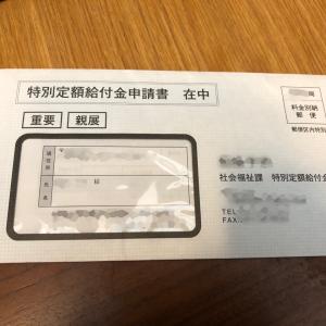 特別定額給付金申請書 届きました。