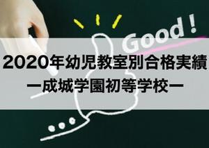【2020年最新】成城学園初等学校ー幼児教室別合格実績・入試倍率(2019秋実施)