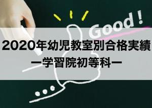 【2020年最新】学習院初等科ー幼児教室別合格実績・入試倍率(2019秋実施)