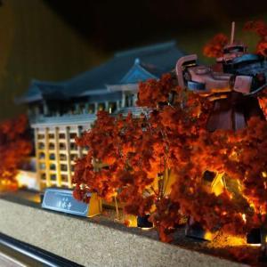 ペーパークラフト「清水寺」を作る⑥ 赤い彗星のシャア