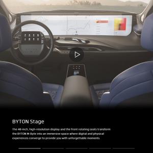 日本の自動車会社はもう勝てない?48インチのディスプレイを搭載した近未来自動車「M-Byte」本年中に発売