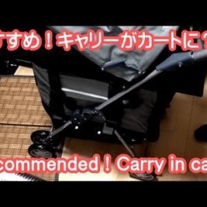 犬猫用キャリーバッグがキャリーカートに!ペット子猫散歩に