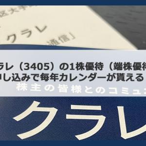 クラレ(3405)の1株優待(端株優待)は申し込みで毎年カレンダーがもらえる