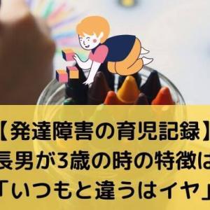 【発達障害の育児記録】長男が3歳の時の特徴は「いつもと違うはイヤ」