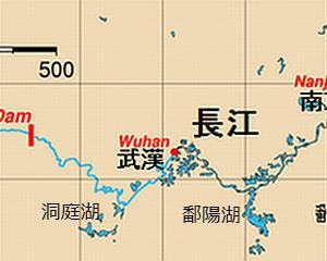 山峡ダムと武漢