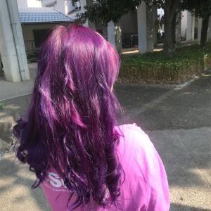 髪の毛真紫の女子大生妊娠🤰🏻