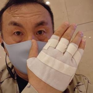 四本突き指(>_<)
