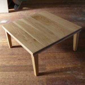 無垢板シンプルこたつテーブル キャンプにもオーダー人気