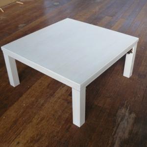 冬キャンプ テーブルはこたつテーブルで暖かく