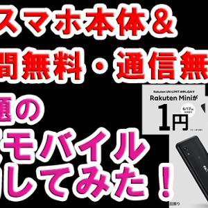 楽天モバイルがやってる1円スマホと使い放題1年無料。契約してみた!