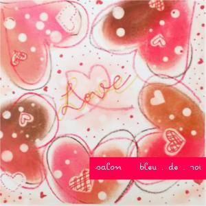 パステルアート『Hearts』