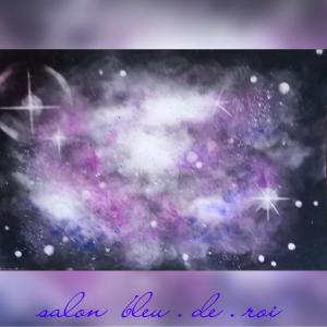 パステル宇宙アート『星雲』