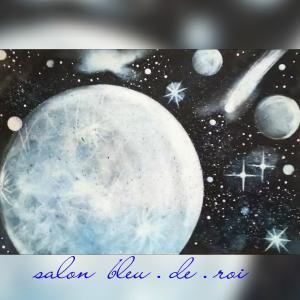 パステル宇宙アート『惑星』