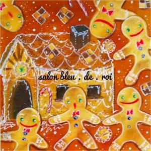 パステルアート『Gingerbread breadman with the sugary house』