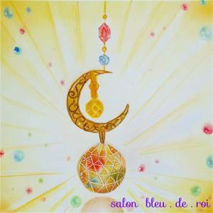 パステルアート『Suncatcher~crescent moon~』