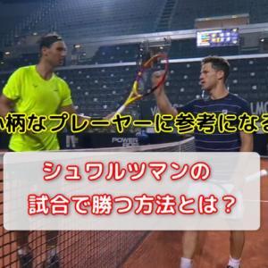小柄なプレーヤーには参考になるシュワルツマンの試合に勝つ攻撃|テニス