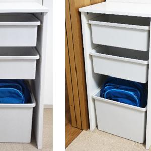 【DIY】無印の収納ケースと板で簡易収納をつくってみたョ!