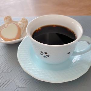 しずく彫り 桜の里 青磁 コーヒーカップ&ソーサー
