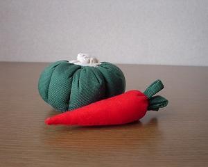 野菜のぬいぐるみ