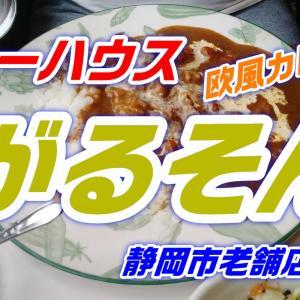 静岡市の老舗カレー店!「カレーハウスがるそん」生クリームがのった欧風カレーは美味!緑色のソースヨーグルト!